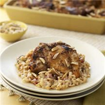 Moroccan-Spiced Chicken & Rice Bake.