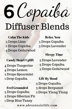 Essential Oils For Cleaning Your Home Copaiba Essential Oil diffuser blends to use at home to help y Helichrysum Essential Oil, Essential Oil Diffuser Blends, Doterra Essential Oils, Young Living Essential Oils, Copaiba Oil, Young Living Copaiba, Relaxing Essential Oil Blends, Joy Essential Oil, Essential Oils For Stress