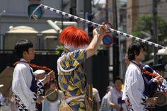 綾傘鉾の棒振り囃子。 祇園祭 京都 kyoto gion festival