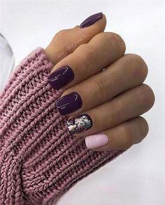 39 Trendy Fall Nails Art Designs Ideas To Look Autumnal & Charming - autumn nail art ideas fall nail art short nail art designs autumn nail colors dark nail designs coffin nails Dark Nail Designs, Latest Nail Designs, Fall Nail Art Designs, Pretty Nail Designs, Dark Nails, Matte Nails, Gel Nails, Nail Polish, Coffin Nails