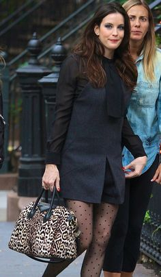 Liv Tyler and her spotted #Givenchy Antigona
