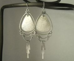 art nouveau earrings sterling silver .925 by Q2jewelrycollection, $75.00