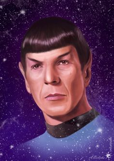 Spock (digital painting) by UnicatStudio on DeviantArt // In loving memory of Leonard Nimoy [*] You were part of our lives, now we all hope that You are happy on the biggest Journey of them all. Rest in Peace Star Trek Spock, Star Trek Tos, Star Trek Characters, Star Trek Original, The Final Frontier, Extraordinary People, Star Trek Universe, Stargate Atlantis, Cinema Posters