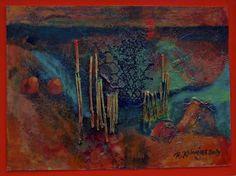 """Saatchi Online Artist Riitta Kalenius; Painting, """"Abstract Sunset"""" #art"""