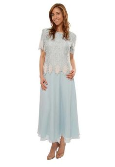 f5554759837 light blue lace tea length dress for mother of the bride 2014 by The  Evening Store