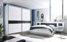 Atraktivní bílý ložnicový nábytek kombinovaný s antracitovým sklem. Divider, Furniture, Home Decor, Decoration Home, Room Decor, Home Furnishings, Home Interior Design, Room Screen, Home Decoration