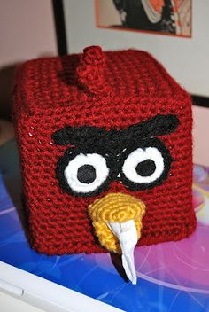 The Crochet Girl: A Bird That Is Angry Tissue Box Cover