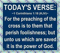 1 Corinthians 1:18 KJV