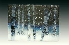 Emily Pezzulich is a glass artist who makes landscape panels from crushed glass. We sell them at craft shows where people often ask how they are...
