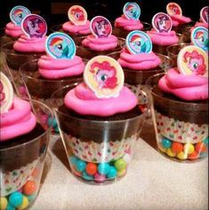 Ideas for themed birthday party My little pony - cupcakes my little pony - Cupcakes My Little Pony, My Little Pony Cumpleaños, Fiesta Little Pony, Cumple My Little Pony, My Little Pony Birthday Party, 5th Birthday Party Ideas, 4th Birthday, Fiesta Rainbow Dash, Festa Baby Alive