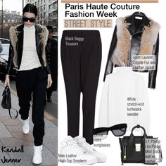 """""""Paris Haute Couture F/W Street Style: Kendall Jenner"""" by helenevlacho ❤ liked on Polyvore"""