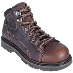 CAT 89887 Womens Steel Toe EH Brown Boots