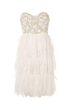 feather wedding dress