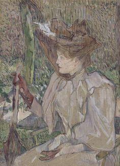 By Henri de Toulouse-Lautrec (1864-1901), 1890, La femme aux gants, oil on board, Paris, musée d'Orsay. © RMN-Grand Palais (Musée d'Orsay)