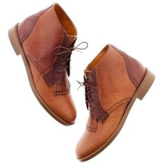 Madewell MADEWELL The Aberdeen Two-Tone Boot ($210) ❤ liked on Polyvore