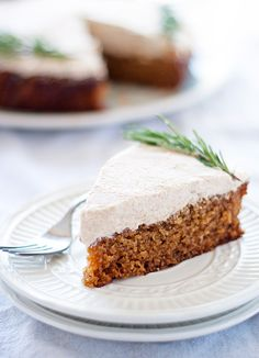 spiced ginger cake with gingersnap frosting