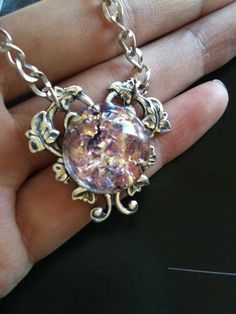 Mexican Dragon Breath Fire Opal necklace.... I've never seen an opal like that!