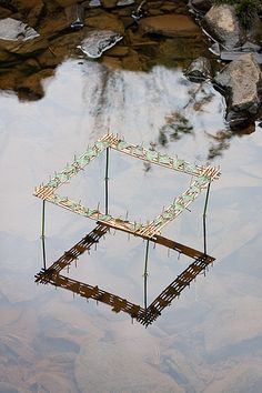 Artist Richard Shilling uses simple materials in such striking ways, playing with form, reflection, and translucence.