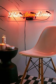Where Love Lives Neon Sign | Urban Outfitters