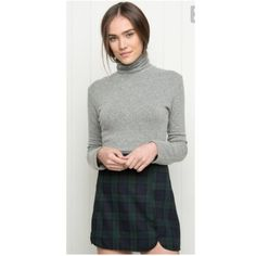 Brandy melville plaid Raquel skirt Rare color and sold out in stores. Worn twice, in excellent condition. Zipper on back. Best fits size S. Brandy Melville Skirts Mini