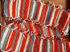 Hand knit scarf Wool Scarf TCHERGA Winter Accessory by Spti, $42.00