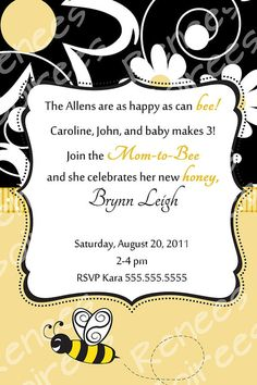 Bee-themed Baby Shower Invitation