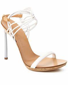 "Casadei ""Patchwood Blade"" Leather Sandal"