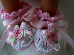 My Girl - Pink Rose Crochet Baby Girl Booties from http://www.etsy.com/listing/59378396/pink-rose-crochet-baby-girl-booties-size
