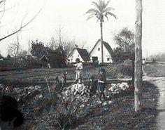 Barracas típicas de la huerta valenciana sobre 1940.