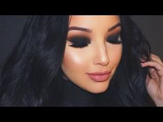 Valentine's Black Smokey Eye Makeup Tutorial ♡ - YouTube