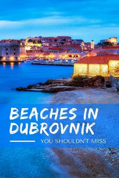 Beach Vacation Destinations : Dubrovnik is famous for the crystal clear waters and endless shimmer of the Adriatic Sea, and many mysterious beaches lie European Destination, European Travel, Croatia Travel, Croatia Tourism, Dubrovnik Croatia, Europe Travel Tips, Travelling Europe, Travel Plan, Travel Advice
