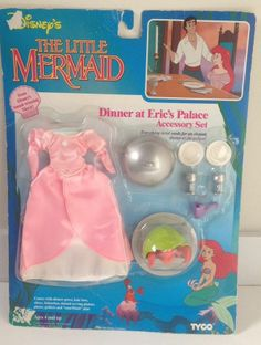 Disney Little Mermaid Ariel Tyco Dinner at Prince Eric's Palace Accessory Rare