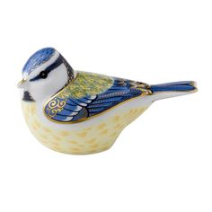 Garden Blue Tit Paperweight | Royal Crown Derby Paperweights | Handcrafted Sculptures | Collectibles | ScullyandScully.com