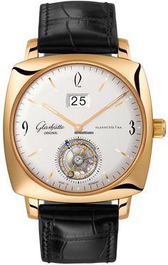 Glashütte Original Senator Sixties Square Tourbillon $90,960 #Glashuette #watch…