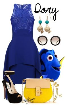 """""""Dory - Disney Pixar's Finding Nemo"""" by rubytyra ❤ liked on Polyvore featuring Antonio Berardi, Prada, Chloé and Miu Miu"""