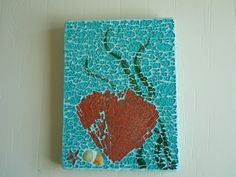 Fan Coral Mosaic Art wall hanging by cactuscountry on Etsy, $39.95