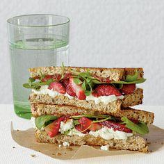 Cream cheese & strawberry grilled sandwich