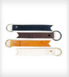 Tan Leather Key Fob | Women's BAGS & ACCESSORIES | 1.61 Soft Goods | Scoutmob Shoppe | Product Detail