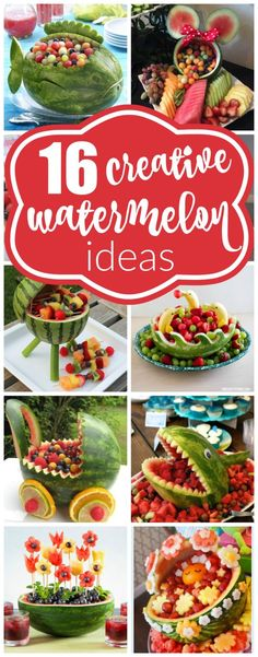 16 Most Creative Watermelon Fruit Salads | Pretty My Party