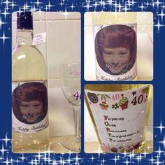 #personalised #winebottle #glass #handmade #fimofairies