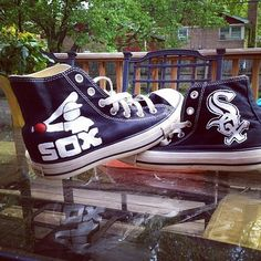 Chicago White Sox Converse Shoes - http://cutesportsfan.com/chicago-white-sox-designed-sneakers/