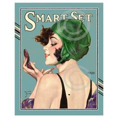 Gorgeous Art Deco Print, Henry Clive, Smart Set Girl, flapper jazz... ($21) ❤ liked on Polyvore featuring home, home decor, wall art, stamp picture, vintage home decor, portrait picture, vintage home accessories and girls wall art