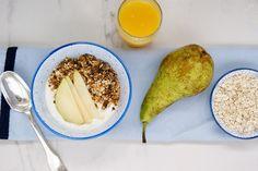 Granola au beurre de cacahuète Granola, Camembert Cheese, Dairy, Food, Sunflower Seeds, Peanut Butter, Sliced Almonds, Essen, Meals