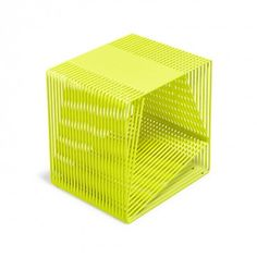 TJOKEEFE Fluorescent Yellow Steel Side Table