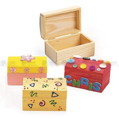 Hand Painted Jewelry BoxesPainted wooden boxesTreasure BoxJewelry