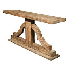 Shop the Solid Wood Console Table at Perigold, home to the design world's best furnishings for every style and space. Western Furniture, Country Furniture, Unique Furniture, Furniture Plans, Furniture Decor, Living Room Furniture, Cheap Furniture, Furniture Stores, Outdoor Furniture