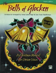 """Alfred The Bells of Glocken by Alfred. $19.99. With very simple narration and dialog. this presentation features speaking and non-speaking roles for 7-10 people. """"Glocken"""" is the German word for """"bells"""". Four bell sounds represent the seasonal themes of hope, peace, love and joy. This pattern may be played by hand bells, choir chimes, organ chimes, or pitched percussion instruments. The presentation is approximately 20 minutes long and is an inspired choice for ch..."""