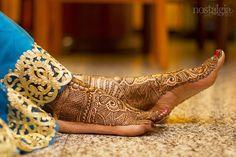 Henna on bride's feet