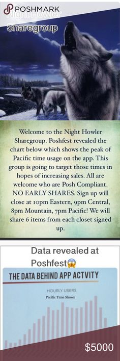 Sign up 3/9(OPEN) Please read the Q&A. If you decide to participate & sign up, share 6 for sale items from each closet. All are welcome/Posh Compliant always. Shares do not begin until I close at 10:00pm Eastern, 9pm Central, 8pm Mountain, and 7pm Pacific. You can share between 10pm Est- 2am Est. Please don't sign up if you can't share at these times✨Please use the Q&A for any questions. I hope this time is more convenient for all! Happy Sales💸 Accessories