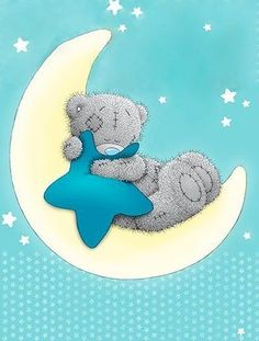 Tatty Teddy Wish on a star Tatty Teddy, Watercolor Card, Lapin Art, Teddy Bear Pictures, Blue Nose Friends, Love Bear, Cute Teddy Bears, Baby Art, Cute Cartoon